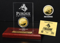 Purdue University 24KT Gold Coin Etched Acrylic