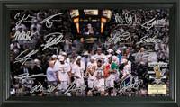 San Antonio Spurs 2014 NBA Finals Champions Celebration Signature Court