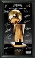 San Antonio Spurs 2014 NBA Finals Champions Trophy Signature Photo