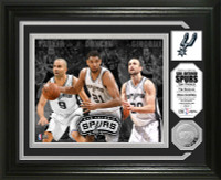 San Antonio Spurs Big 3 Minted Coin Photo Mint