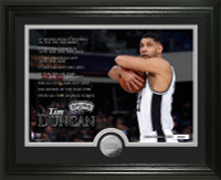 Tim Duncan Legacy Minted Coin Photo Mint