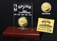 San Antonio Spurs Five Time NBA Champs Mint Coin