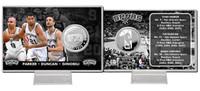 San Antonio Spurs Big 3 Silver Coin Card