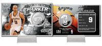 Tony Parker Silver Coin Card