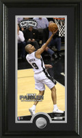 Tony Parker Minted Coin Panoramic Photo Mint