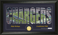 San Diego Chargers Silhouette Bronze Coin Panoramic Photo Mint