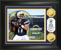 Phillip Rivers Gold Coin Photo Mint