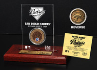 Petco Park Infield Dirt Coin Etched Acrylic