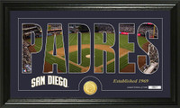 San Diego Padres Silhouette Bronze Coin Panoramic Photo Mint