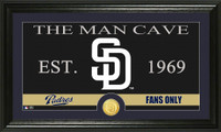 San Diego Padres The Man Cave Bronze Coin Panoramic Photo Mint