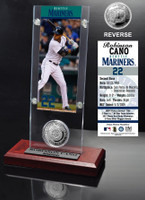 Robinson Cano Ticket & Minted Coin Acrylic Desk Top