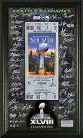 Seattle Seahawks Super Bowl 48 Signature Ticket