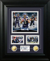 Russell Wilson Marquee Gold Coin Photo Mint