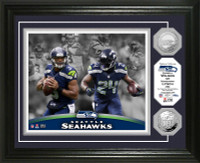 Seattle Seahawks Beast Mode Silver Coin Photo Mint