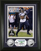 Seattle Seahawks Super Bowl 48 Champions MVP Silver Coin Photo Mint