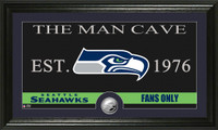 Seattle Seahawks The Man Cave Minted Coin Panoramic Photo Mint