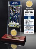 Richard Sherman Ticket & Bronze Coin Acrylic Desk Top