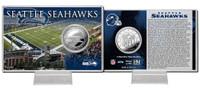 Seattle Seahawks Silver Coin Card