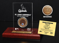 Busch Stadium Infield Dirt Coin Etched Acrylic