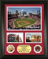 Busch Stadium Infield Dirt Coin Showcase Photo Mint