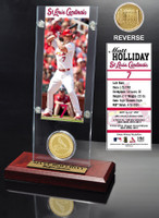 Matt Holliday Ticket & Bronze Coin Acrylic Desk Top