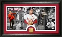 Stan Musial Bronze Coin Pano Photo Mint