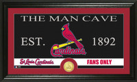 St. Louis Cardinals The Man Cave Bronze Coin Panoramic Photo Mint