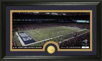 Los Angeles Rams Stadium Bronze Coin Panoramic Photo Mint