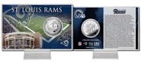 Los Angeles Rams Silver Coin Card