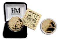 24kt Gold Super Bowl I flip coin