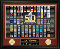 *NFL Super Bowl Fifty 50th Anniversary Ticket Collection Bronze Coin Photo Mint