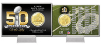 *Super Bowl Fifty 50th Anniversary Bronze Coin Card
