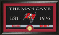 Tampa Bay Buccaneers Man Cave Bronze Coin Panoramic Photo Mint