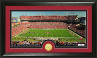 Tampa Bay Buccaneers Stadium Bronze Coin Panoramic Photo Mint