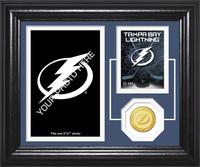 Tampa Bay Lightning Fan Memories Bronze Coin Desktop Photo Mint
