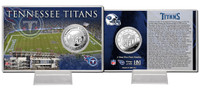 Tennessee Titans Silver Coin Card