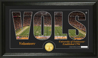 University of Tennessee Silhouette Bronze Coin Panoramic Photo Mint