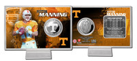 Peyton Manning Tennessee Silver Coin Card