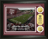 Texas A&M University  Stadium Gold Coin Photo Mint