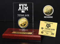 Texas A&M 24KT Gold Coin Etched Acrylic