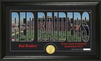 Texas Tech University Silhouette Bronze Coin Panoramic Photo Mint