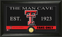 Texas Tech University Man Cave Bronze Coin Panoramic Photo Mint