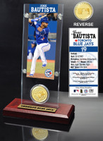Jose Bautista  Ticket & Bronze Coin Acrylic Desk Top