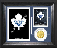 Toronto Maple Leafs Fan Memories Bronze Coin Desktop Photo Mint