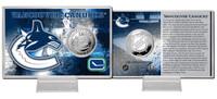 Vancouver Canucks Silver Coin Card