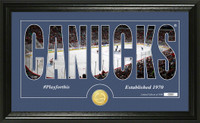 Vancouver Canucks Silhouette Bronze Coin Panoramic Photo Mint