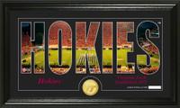 Virginia Tech University Silhouette Bronze Coin Panoramic Photo Mint