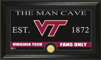 Virginia Tech University Man Cave Bronze Coin Panoramic Photo Mint