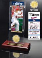 Bryce Harper Ticket & Bronze Coin Desk Top Acrylic
