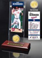 Max Scherzer Ticket & Bronze Coin Acrylic Desk Top